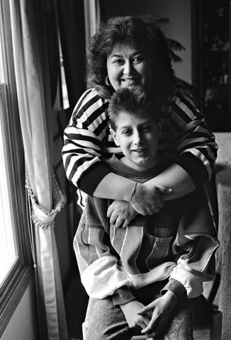 Ryan White and mother
